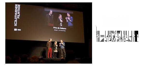 Climatologist Konrad Steffen and filmmaker Corina Gamma at the Q&A at the Solothurn Filmfestival